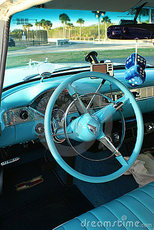 Interior of Chevrolet '55 Bel Air Editorial Image