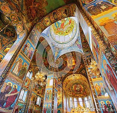 Interior of Church Savior on Spilled Blood