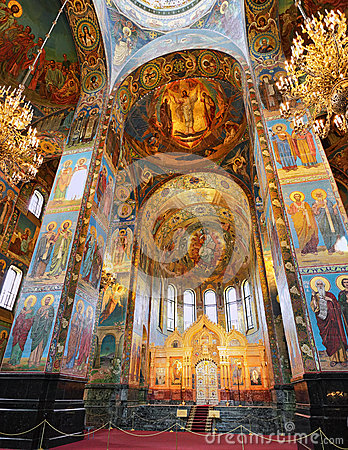 Interior of the Church  Savior on Spilled Blood