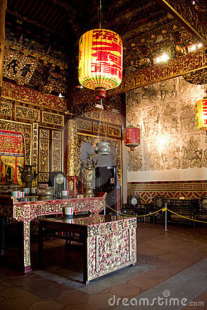 Interior of clan temple in penang