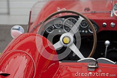 Interior of a classic sportscar Editorial Image