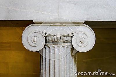 Interior classical pillar closeup