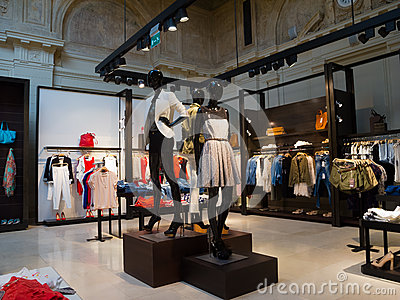 Interior Of Clothing Store Royalty Free Stock Image