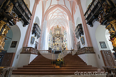 Interior collegiate church