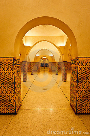 Interior columns of hammam turkish bath