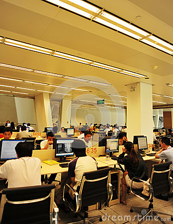 Interior of computer room Editorial Stock Photo