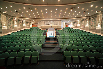 Interior of conference hall