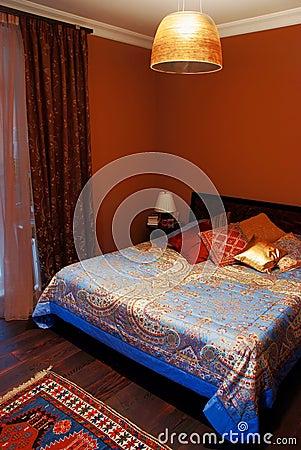 Interior of cosy bedroom