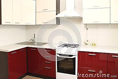 Interior da cozinha doméstica