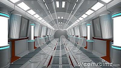 Interior da nave espacial vista center com assoalho for Interior nave espacial