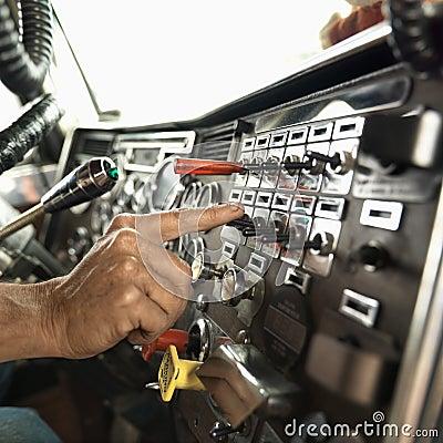 Interior of dashboard