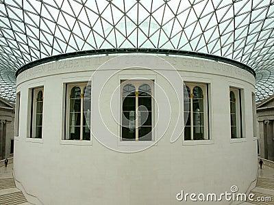 Interior de British Museum Imagen de archivo editorial