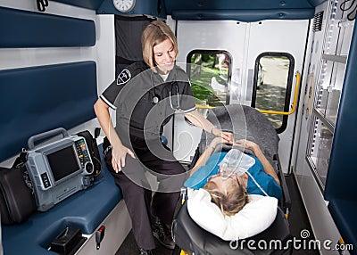 Interior de la ambulancia