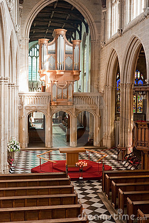 Interior de la iglesia. Oxford, Inglaterra