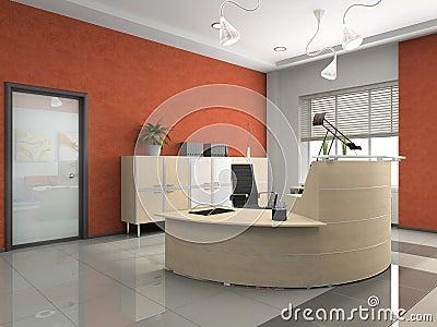 Interior de la recepci n moderna en oficina imagen de for Recepcion oficina moderna