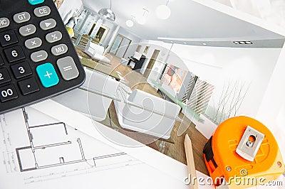 Interior decorating plan