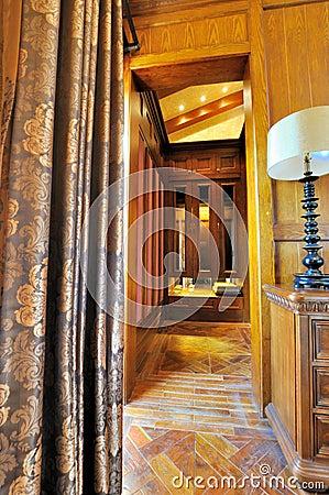 Interior deep space from door