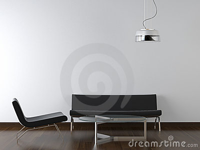 Interior design black living room