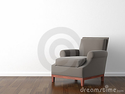 Interior design brown armchair
