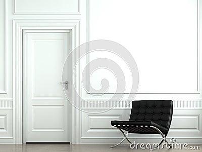 Interior design classic wall
