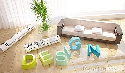 Interior design composition