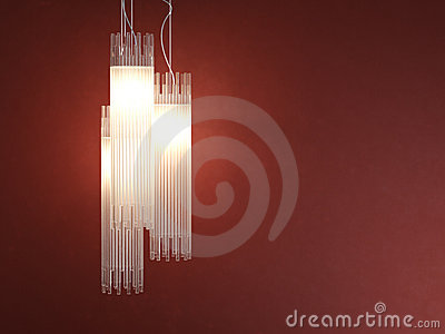 Interior design deatil of tubular lamp