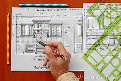 Simple Architecture Design House Interior Drawing Wood Frame Room