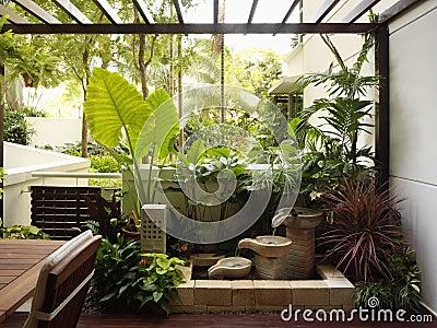 interior design garden royalty free stock photography
