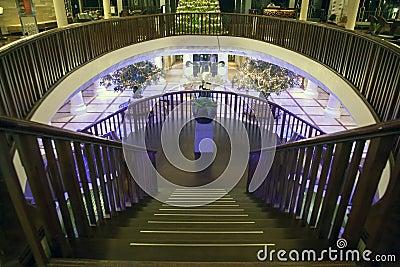 Interior design of a hotel in Bali Editorial Stock Photo