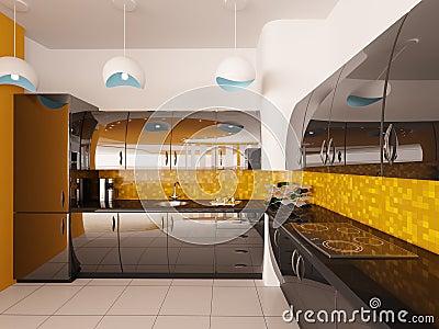 Modern Kitchen 3d Design 28+ [ modern kitchen interior 3d rendering ] | sketch of a modern
