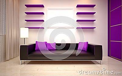Interior Design. Modern living room