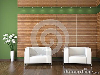 Interior design of modern waiting room