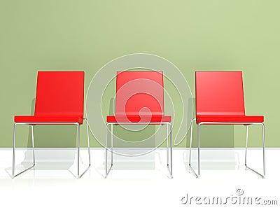 Interior design, red chair