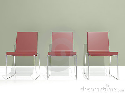 Interior design, red chair