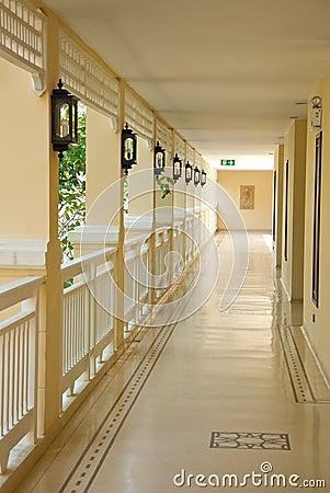 Interior design walkway in thailand
