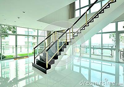 Interior design of white