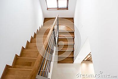 Interior Design Wooden Minimalist Staircase In Luxury