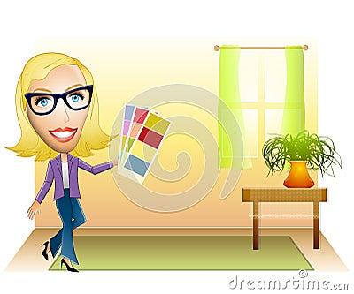 Design Icon Free Download On Interior Designer At Work Clip Art
