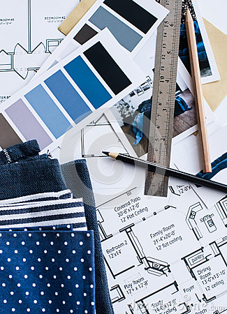 Interior Designers Working Table Stock Photo Image 59084085