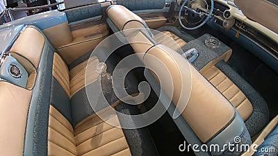 Interior do eldorado de Cadillac video estoque