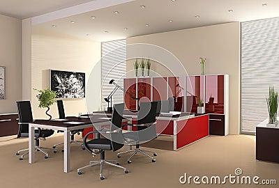 Interior do escrit rio moderno foto de stock royalty free for Plano b mobilia
