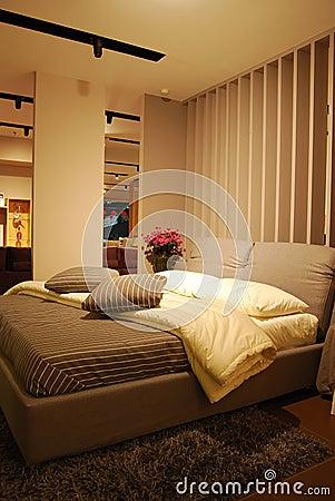 Interior do quarto da cama