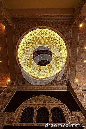 Interior do teto de uma casa marroquina