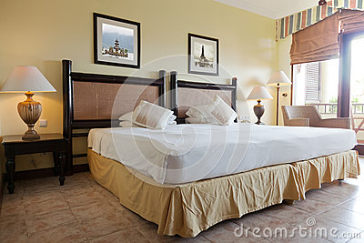 Interior of a double room