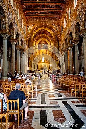 Interior Duomo di Monreale, Sicily Editorial Stock Image