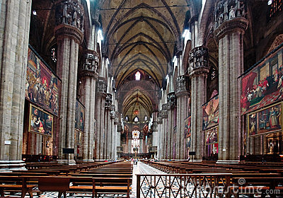 The interior of Duomo Milan Editorial Stock Photo