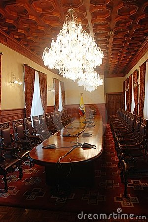 Interior of Ecuador Presidential palace Editorial Stock Photo