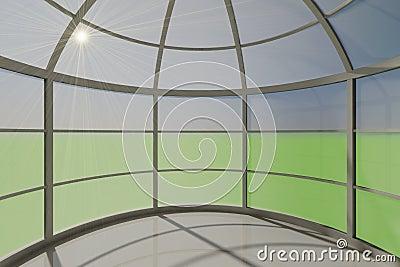 Interior empty space round