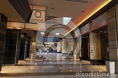 Interior en Las Vegas, nanovoltio del centro turístico de M el 20 de agosto de 2013 Foto editorial