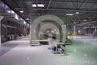 Interior of the factory